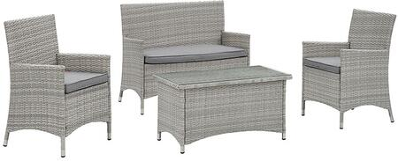 Modway EEI2212LGRGRY Contemporary Patio Sets