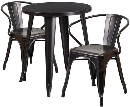 Flash Furniture CH51080TH218ARMBQGG Round Shape Patio Sets