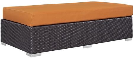 Modway EEI1847EXPORA Convene Series Fabric Metal Frame Ottoman