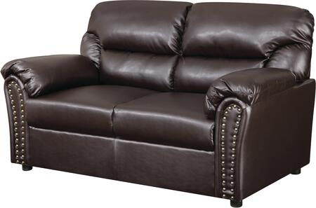 Glory Furniture G265L Bonded Leather Stationary Loveseat
