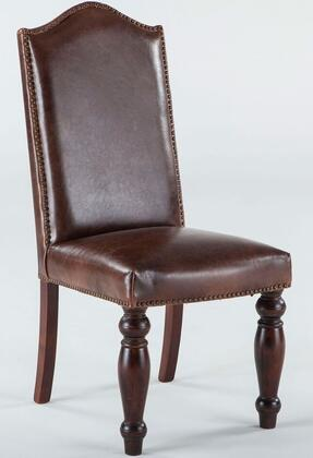 Home Trends & Design ZWEI63LMD Emilia Series Casual Leather Wood Frame Dining Room Chair