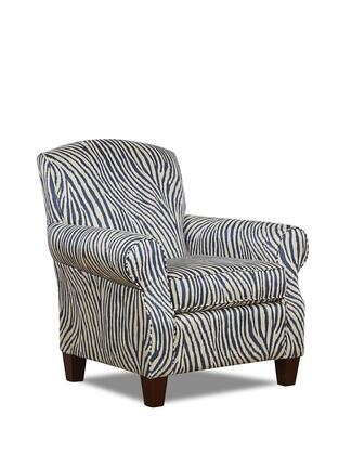 "Klaussner Marie Collection K190-C- 36"" Chair with Rolled Arms, Tapered Legs, Rounded Tight Back and Fabric Upholstery in"