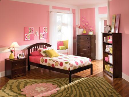 Atlantic Furniture SRICHMONDOFTWINAW Richmond Series  Twin Size Bed