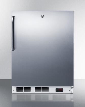 "Summit VT65ML7SSTBADA24"" Freestanding Upright Counter Depth Freezer"