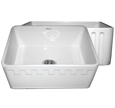 Whitehaus WHFLATN2418BI Kitchen Sink