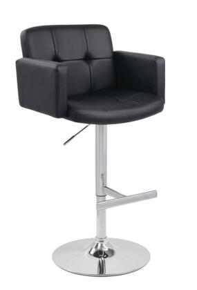VIG Furniture VGCBT1040BLK Modrest Series Residential Bar Stool