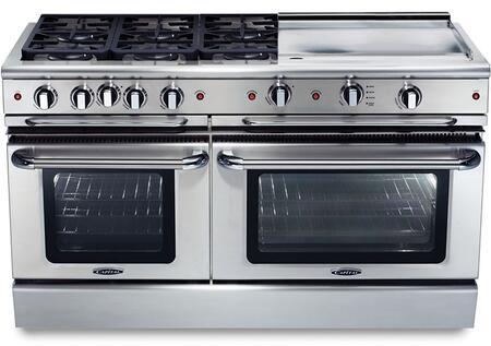 "Capital GSCR606GN 60"" PRECISION Series Gas Freestanding"