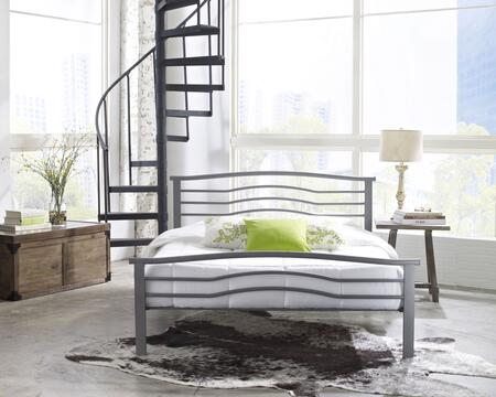 Rest Rite Watertown MFP01353xx X Size Platform Bed with Metal Frame and Modern Style in Silver