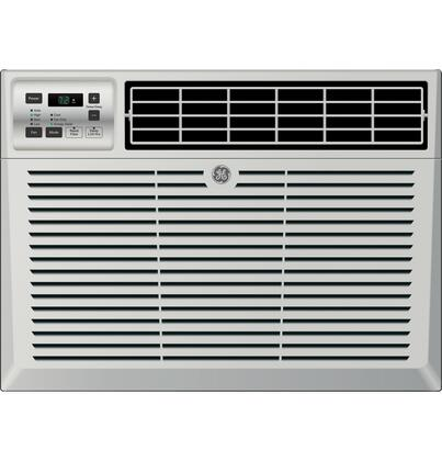GE AEDxLV Air Conditioner with x BTU Cooling Capacity, 3 Fan Speeds, EZ Mount Window Kit, Fixed Chassis, Electronic Digital Thermostat, and Deluxe Quiet, in Light Cool Gray