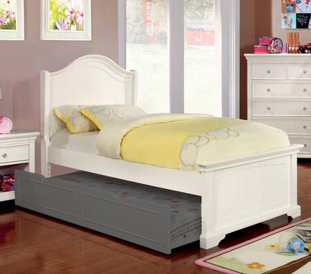 Furniture of America CM7943WHTBED Mullan Series  Twin Size Bed