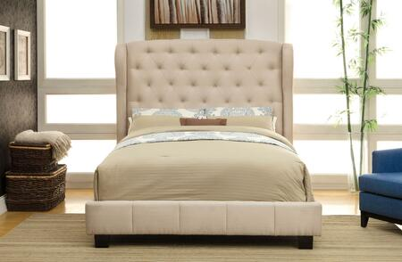 Furniture of America CM7050IVEKBED Fontes Series  Eastern King Size Bed