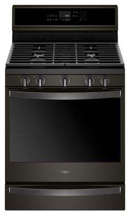 Whirlpool Wfg975h0hv 30 Inch Black Stainless Steel Gas Convection Freestanding Range