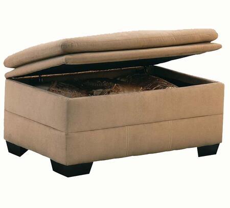 Acme Furniture 50363 Lucille Series Contemporary Microfiber Ottoman