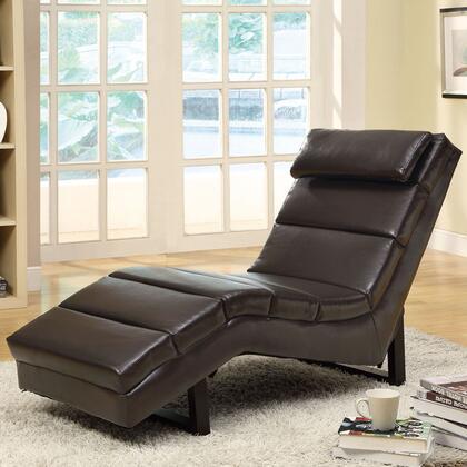 Monarch I8907 Contemporary Faux Leather Chaise Lounge  Appliances Connection
