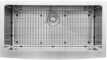 """Kraus KHF20036KPF1602KSD30 Precision Series 36"""" Apron Front Kitchen Sink with Stainless Steel Construction, NoiseDefend, and Included Pull-Down Kitchen Faucet"""