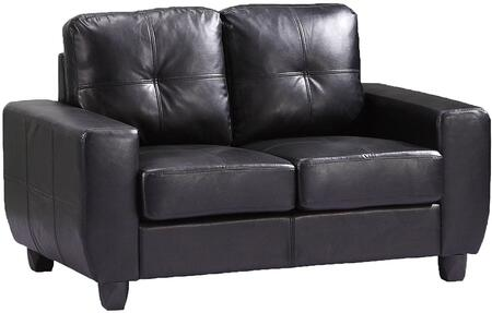 Glory Furniture G203AL Bycast Leather Stationary with Wood Frame Loveseat