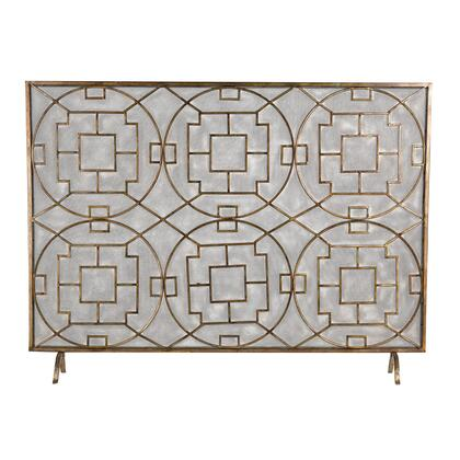 Picture of 51-10160 Geometric Fire Screen in Silver  Dark Brown Antique
