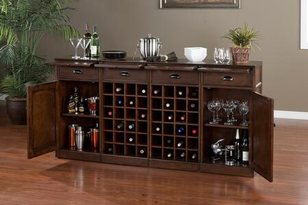 "American Heritage 60007NAV4 Natalia Series 72"" Wine Bar,"