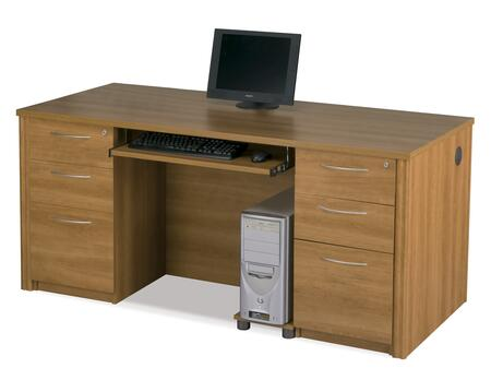 Bestar Furniture 60871 Embassy executive desk kit including assembled pedestals