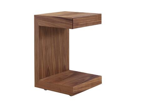 Casabianca TC1332CWAL Lino Series Square Wood Night Stand