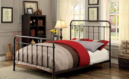 Furniture of America CM7701GMCK Iria Series  California King Size Bed