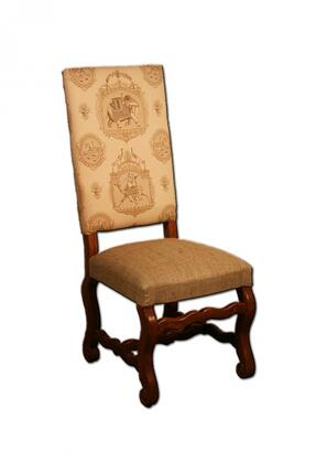 Peninsula Home Collection DC0021005ST Traditional Fabric Wood Frame Dining Room Chair