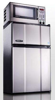 """Picture of 2.9MF-7TPS 19"""" Energy Star Compact Refrigerator with 2.9 cu.ft. Capacity 0.7 cu. ft. Microwave Capacity with 700W True Zero-Degree Freezer Safe Plu"""
