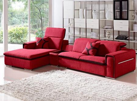 VIG Furniture VGMB12011 Divani Casa Harding Series Stationary Fabric Sofa