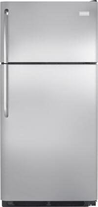 "Frigidaire FFTR18G2Q 30"" Top Freezer Refrigerator with 18 Cu. Ft. Capacity, 2 Straight Glass Shelves, Wire Freezer Shelf, Clear Dairy Compartment, Reversible Door and 2 Clear Humidity Crispers:"