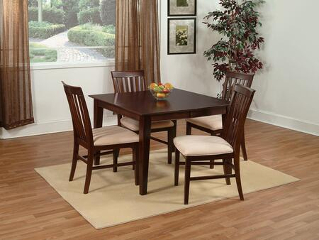 """Atlantic Furniture SHAKER5454BTDT Shaker Series 54x54 Butterfly Top Dining Table (Includes 18"""" Leaf):"""
