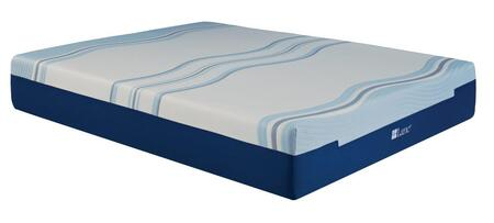 "Rest Rite IMGELL1010 Lane Cool Lux Liquid Gel Foam 10"" Mattress White Gel Memory Foam and Memory Foam"