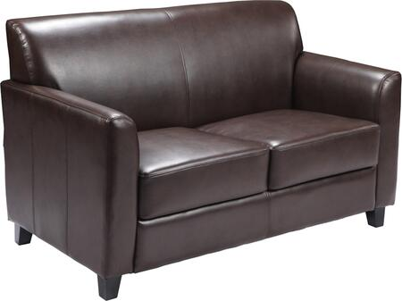 Flash Furniture BT8272GG HERCULES Diplomat Series Leather Love Seat