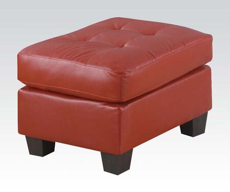 Acme Furniture 15103 Platinum Series Contemporary Bonded Leather Ottoman