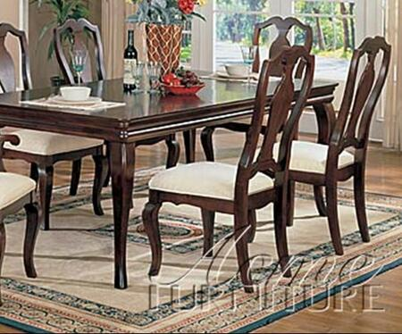 Acme Furniture 07071 Hamburg Series Transitional Fabric Wood Frame Dining Room Chair