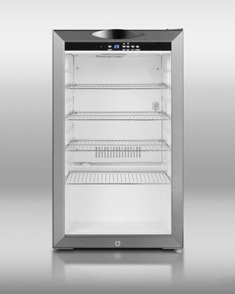 """Summit SCR485LCSS Freestanding Compact  18 63/100"""" No Beverage Center 