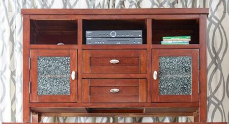 "Jofran Chadwick Espresso Collection 862-XX XX"" Media Unit with Crackled Glass in Cabinet Doors, Two Shelves, Two Doors in Chadwick Expresso"
