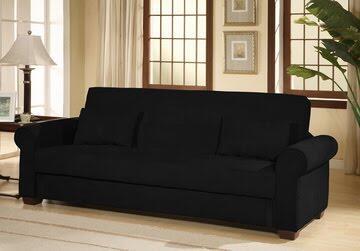 LifeStyle Solutions CCROXBKSET  Convertible Microfiber Sofa