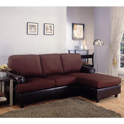 Coaster 500605  Stationary Microfiber Sofa