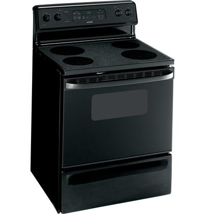 "Hotpoint RB787DPBB 30"" Electric Freestanding Range with Smoothtop Cooktop, 5.0 cu. ft. Primary Oven Capacity, Storage in Black"