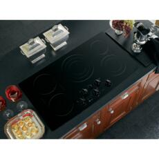 "GE Profile PP962BMBB Smoothtop No 33.875""  Electric Cooktop 