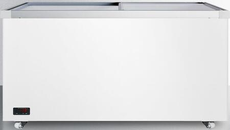 "Summit SCF1712DT 62"" Freestanding Commercial Glass Top Freezer"