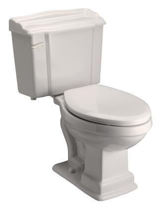 """Barclay 2-420B Stanford Elongated Toilet, with 1.6 GPF Flush, White Vitreous China Construction, 12"""" Rough, and Glazed Trapway"""