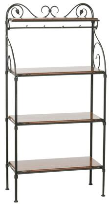 Stone County Ironworks 903-185 Leaf Bakers Rack 4-Tier