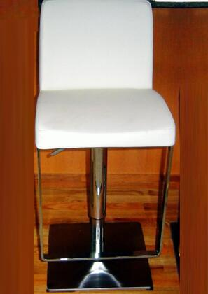 Chintaly 0813-AS- Adjustable Swivel Stool with Upholstered Seat: