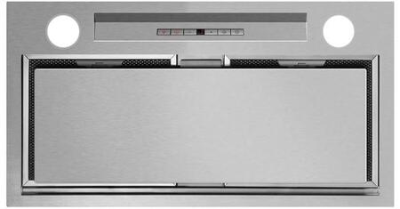 Fisher Paykel HPXXILTX1 Perimeter Range Hood Insert with 600 CFM Internal Blower, 2 Dishwasher Safe Mesh Filters, Perimeter Extraction, Timer, and 2 Halogen Lights: Brushed Stainless Steel