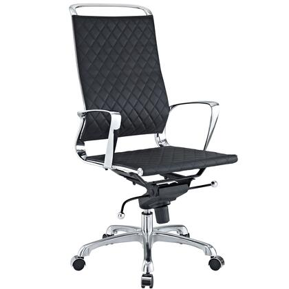 Modway EEI-232 Vibe Highback Office Chair with Modern Design, Chrome Metal Frame, Versatile Recline, Tension Knob for Tilt Control, and Pneumatic Height Adjustment