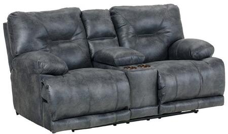 Catnapper 4389122853302853 Voyager Series Faux Leather Reclining with Metal Frame Loveseat