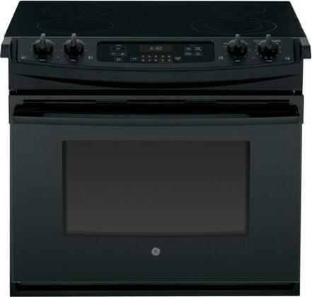 "GE JD630 30"" Drop In Electric Range With Flush Appearance, Big View Oven Window, Glass Door, Self-Clean & In"