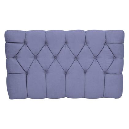 "Picture of ""Meridia 11201GS Collection"" Tufted Upholstered Twin Headboard with Metal Legs and Wood Frame in Grape"