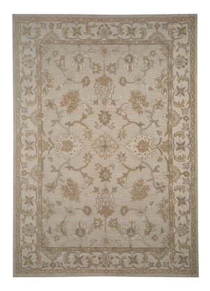 """Signature Design by Ashley Hobbson R40008 """" x """" Size Rug with Loop Floral Design, Hand-Tufted, 5-6mm Pile Height and Indian Wool Material Backed with Cotton Latex in Tan Color"""